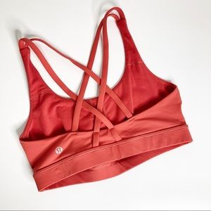 Lululemon Women's Energy Bra Atomic Red Size 6